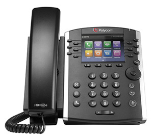 Polycom VVX 400 desk SIP phone.