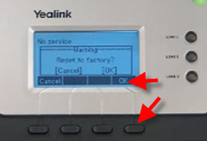 How to do a factory reset on Yealink SIP phones  Step by step to